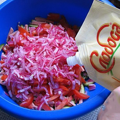 Салат папараць кветка: пошаговый рецепт с фото в домашних условиях