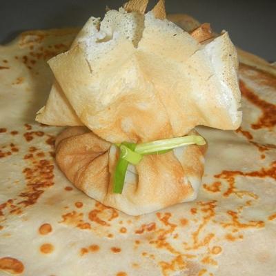 Блинные мешочки с начинкой рецепт с пошагово