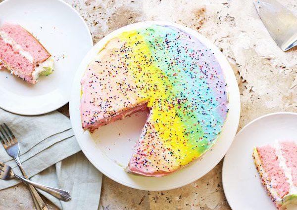 Торт своими руками на день Рожденья ребенка: торт Радуга