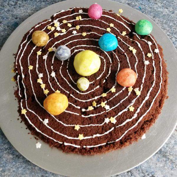 Торт своими руками на день Рожденья ребенка: торт Солнечная система