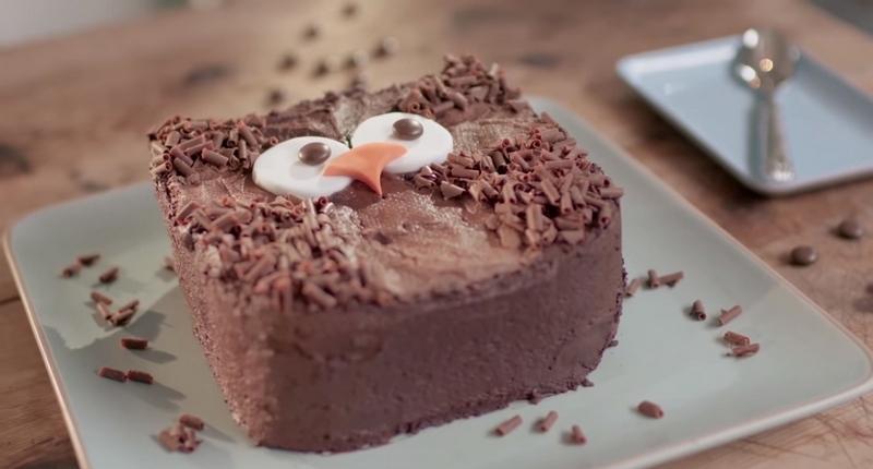 Торт Сова для детского дня рождения