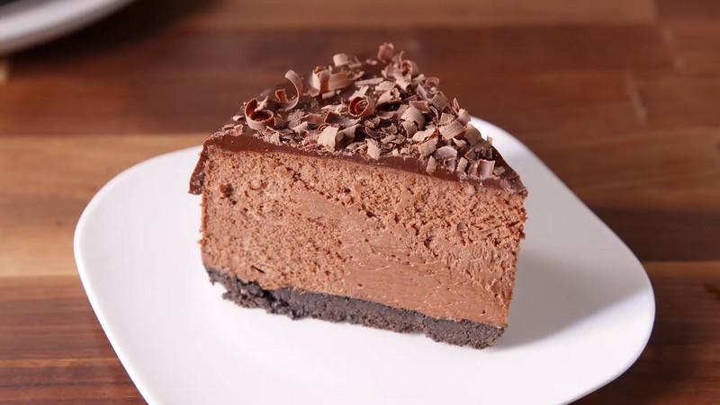 Шоколадный чизкейк: рецепт с фото пошагово